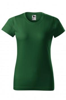 Tricou femei, bumbac 100%, Malfini Basic, verde sticla