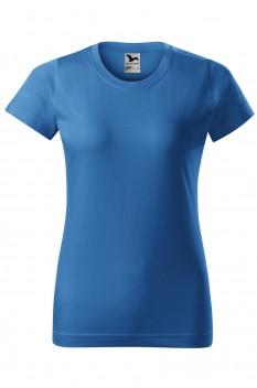 Tricou femei, bumbac 100%, Malfini Basic, albastru azuriu