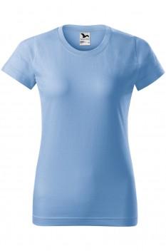 Tricou femei, bumbac 100%, Malfini Basic, albastru deschis