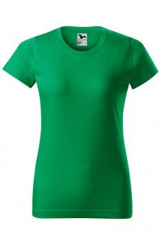 Tricou femei, bumbac 100%, Malfini Basic, verde mediu