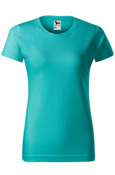 Tricou femei, bumbac 100%, Malfini Basic, verde smarald
