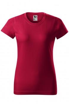 Tricou femei, bumbac 100%, Malfini Basic, rosu marlboro
