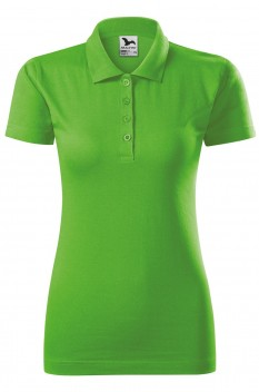 Tricou polo femei, bumbac 100%, Malfini Single Jersey, verde mar