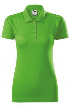Tricou polo femei, bumbac 100%, Malfini Single Jersey, verde mar