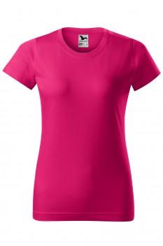 Tricou femei, bumbac 100%, Malfini Basic, roz zmeura