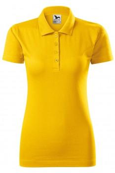 Tricou polo femei, bumbac 100%, Malfini Single Jersey, galben
