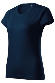 Tricou femei, bumbac 100%, Malfini Basic Free, albastru marin