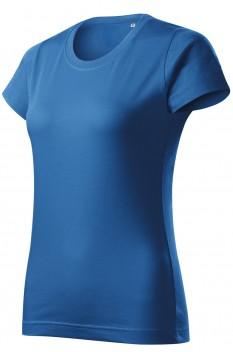 Tricou femei, bumbac 100%, Malfini Basic Free, albastru azuriu