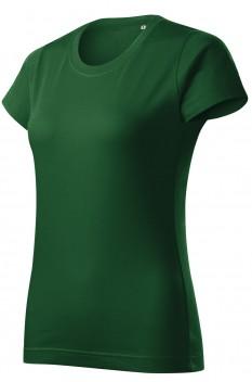 Tricou femei, bumbac 100%, Malfini Basic Free, verde sticla