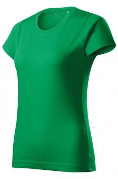 Tricou femei, bumbac 100%, Malfini Basic Free, verde mediu