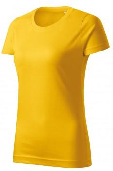 Tricou femei, bumbac 100%, Malfini Basic Free, galben