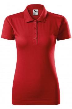 Tricou polo femei, bumbac 100%, Malfini Single Jersey, rosu