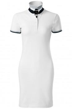 Tricou polo lung pentru femei Malfini Premium Dress Up, alb