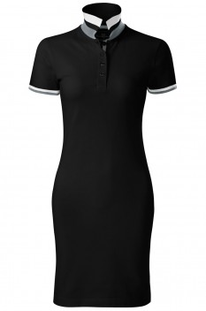 Tricou polo lung femei, bumbac 100%, Malfini Premium Dress Up, negru