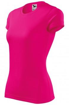 Tricou femei, poliester 100%, Malfini Fantasy, roz neon