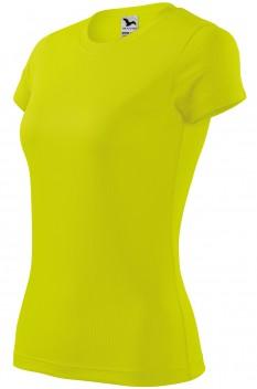 Tricou femei, poliester 100%, Malfini Fantasy, galben neon