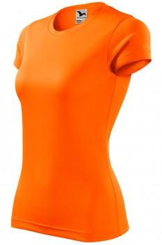 Tricou femei, poliester 100%, Malfini Fantasy, portocaliu neon