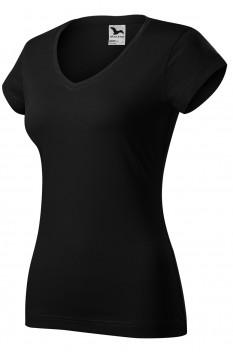 Tricou dama Fit V-Neck, negru