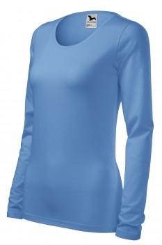 Tricou dama Slim, maneca lunga, albastru deschis
