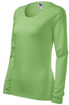 Tricou cu maneca lunga femei, Malfini Slim, verde iarba