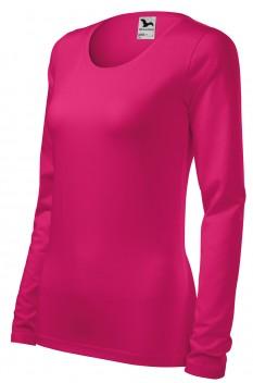 Tricou cu maneca lunga femei, Malfini Slim, roz zmeura