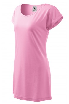 Tricou lung femei, Malfini Love, roz