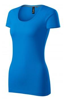 Tricou femei, Malfini Premium Action, albastru snorkel