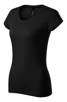 Tricou femei, bumbac 100%, Malfini Premium Exclusive, negru