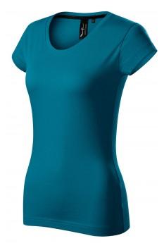 Tricou femei, bumbac 100%, Malfini Premium Exclusive, albastru petrol