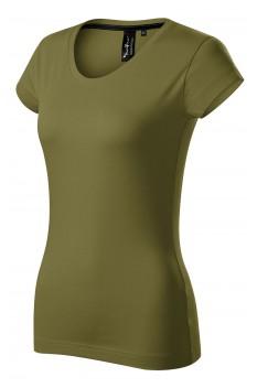 Tricou femei, bumbac 100%, Malfini Premium Exclusive, avocado green