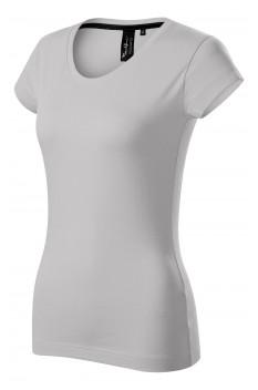 Tricou femei, bumbac 100%, Malfini Premium Exclusive, gri argintiu
