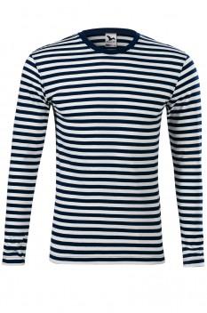 Tricou cu maneca lunga unisex, bumbac 100%, Malfini Sailor LS, albastru marin