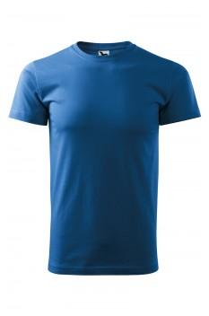 Tricou unisex Heavy New, albastru azur