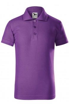 Tricou polo copii Malfini Pique, violet