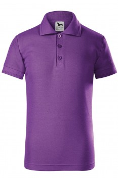 Tricou polo pentru copii Malfini Pique, violet