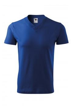 Tricou unisex, bumbac 100%, Malfini V-Neck, albastru regal