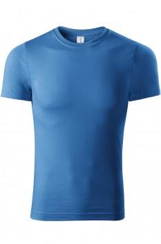 Tricou unisex, bumbac 100%, Piccolio Paint, albastru azur