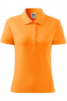 Tricou polo femei, bumbac 100%, Malfini Cotton Heavy, tangerine orange