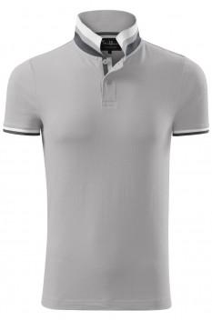 Tricou polo barbati, bumbac 100%, Malfini Premium Collar Up, silver gray
