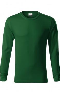 Tricou cu maneca lunga unisex, bumbac 100%, Resist LS, verde sticla