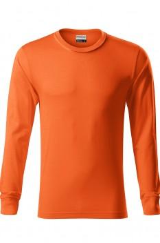 Tricou cu maneca lunga unisex, bumbac 100%, Resist LS, portocaliu