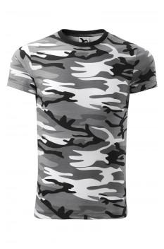 Tricou unisex, bumbac 100%, Malfini Camouflage, gri