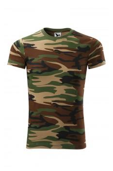 Tricou unisex, bumbac 100%, Malfini Camouflage, maro