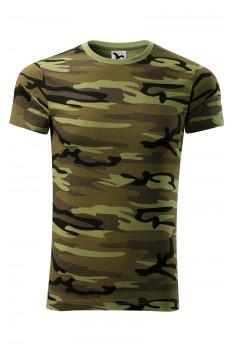 Tricou unisex, bumbac 100%, Malfini Camouflage, verde