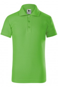Tricou polo copii Malfini Pique, verde mar