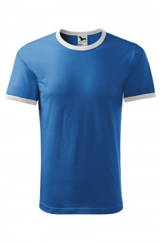 Tricou unisex, bumbac 100%, Malfini Infinity, albastru azur