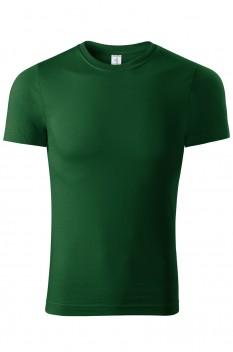Tricou unisex, bumbac 100%, Piccolio Peak, verde sticla