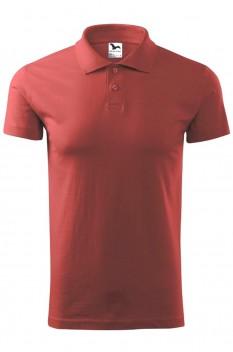 Tricou polo barbati, bumbac 100%, Malfini Single Jersey, rosu bordo