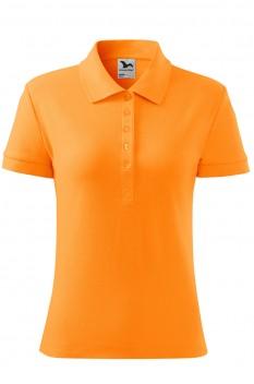 Tricou polo femei, bumbac 100%, Malfini Cotton, tangerine orange