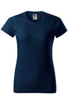 Tricou femei, bumbac 100%, Malfini Basic, bleumarin